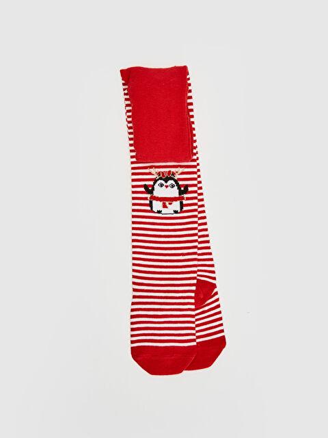Kız Bebek Baskılı Külotlu Çorap - LC WAIKIKI