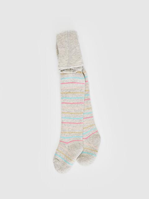 Kız Bebek Çizgili Külotlu Çorap - LC WAIKIKI