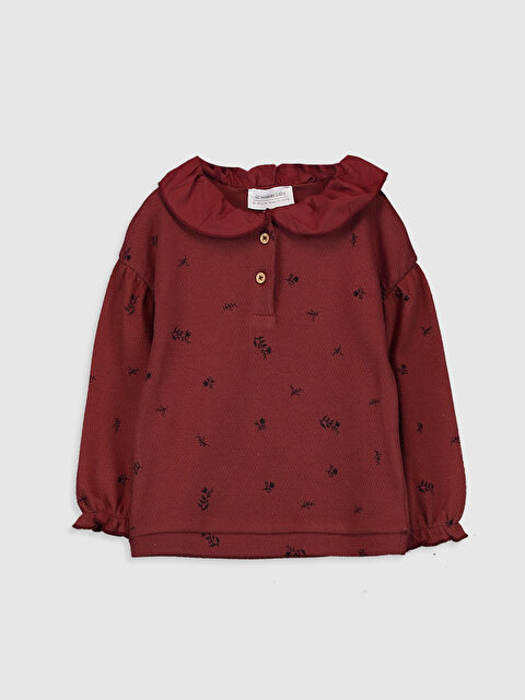 Long Sleeve Baby Girl Sweatshirt with Baby Collar - LC WAIKIKI