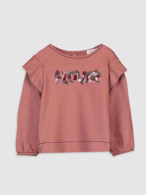 Kız Bebek Baskılı Pamuklu Tişört  - LC WAIKIKI