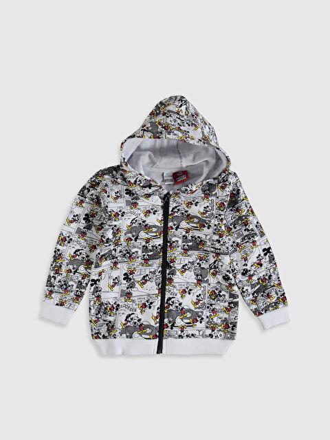 Erkek Bebek Disney Baskılı Fermuarlı Sweatshirt - LC WAIKIKI