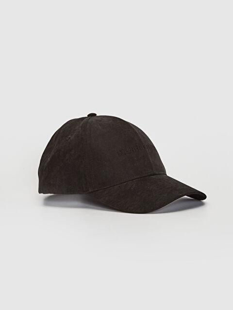 Yazı Nakışlı Süet Şapka - LC WAIKIKI