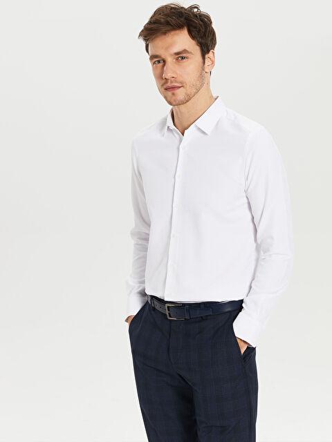 Ekstra Slim Fit Armürlü Gömlek - LC WAIKIKI