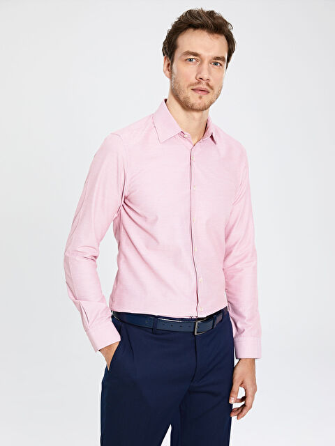 Slim Fit Uzun Kollu Gömlek - LC WAIKIKI