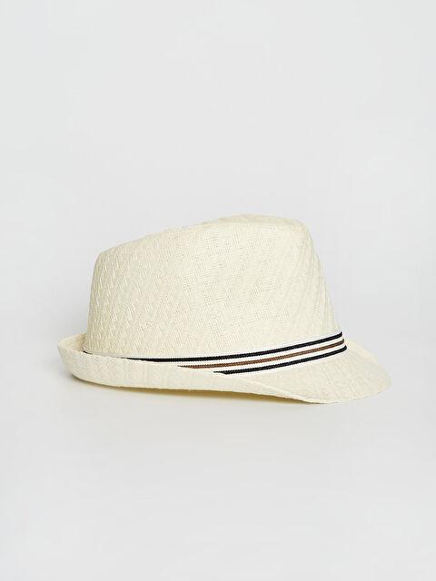 Biye Detaylı Hasır Fötr Şapka - LC WAIKIKI