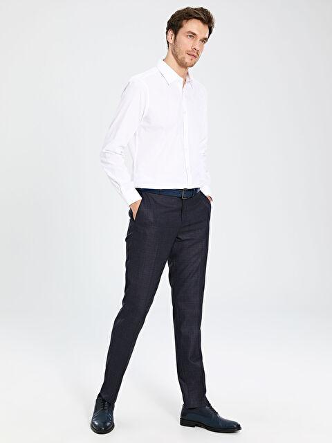 Slim Fit Armürlü Takım Elbise Pantolonu - LC WAIKIKI