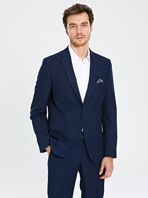 Standart Kalıp Dokulu Takım Elbise Ceketi - LC WAIKIKI