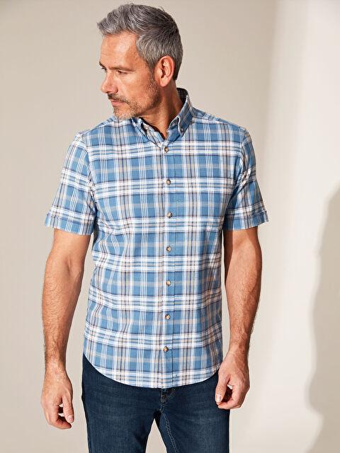 Regular Fit Chequered Short Sleeve Shirt - LC WAIKIKI
