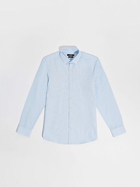 Slim Fit Puantiyeli Gömlek - LC WAIKIKI