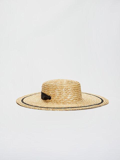 Kuşak Detaylı Hasır Fötr Şapka - LC WAIKIKI