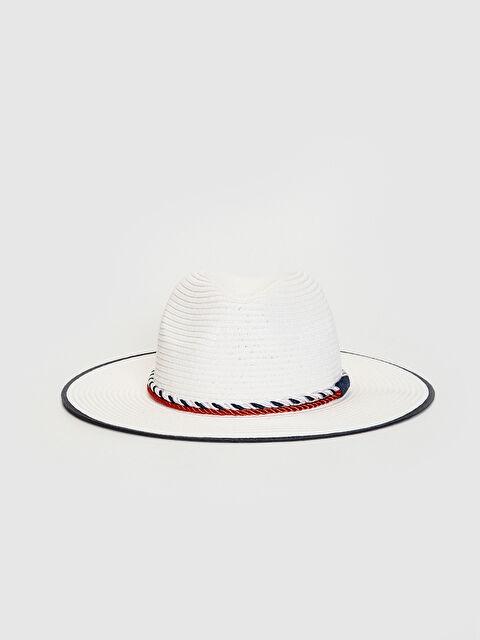 Şerit Detaylı Hasır Fötr Şapka - LC WAIKIKI