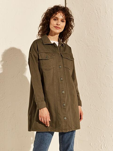 Düğme Detaylı Oversize Jean Ceket - LC WAIKIKI