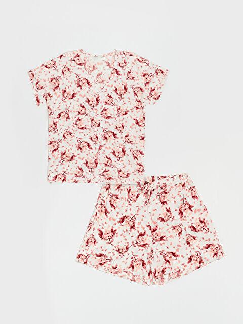 Desenli Şortlu Pijama Takımı - LC WAIKIKI