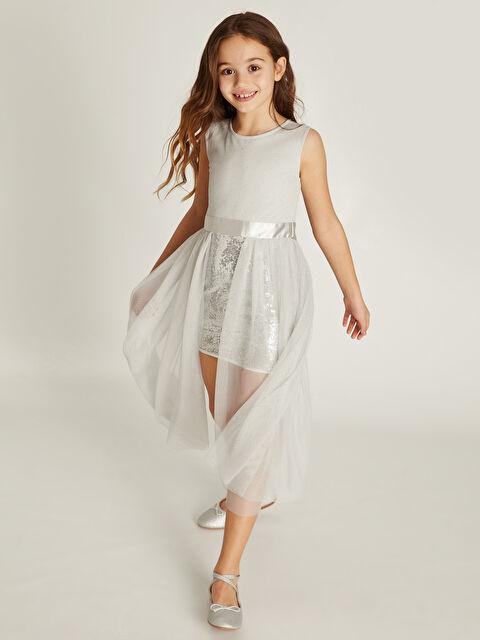 Kız Çocuk Payet İşlemeli Tüllü Elbise - LC WAIKIKI