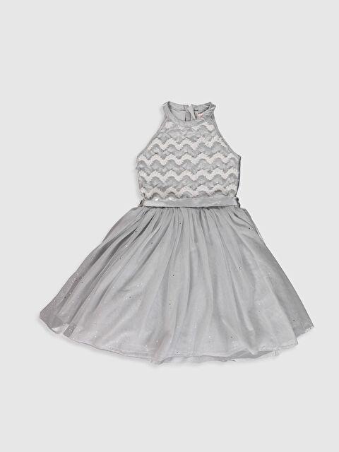 Kız Çocuk Halter Yaka Tüllü Elbise - LC WAIKIKI