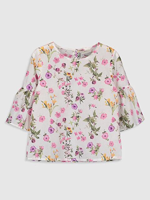 Kız Çocuk Çiçekli Pamuklu Bluz - LC WAIKIKI