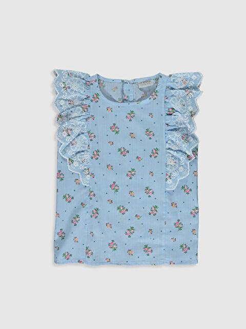 Kız Çocuk Desenli Poplin Bluz - LC WAIKIKI