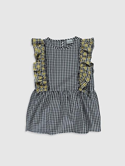 Kız Çocuk Fırfırlı Poplin Bluz - LC WAIKIKI