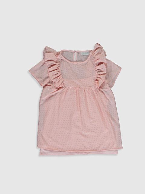 Kız Çocuk Fırfırlı Bluz - LC WAIKIKI