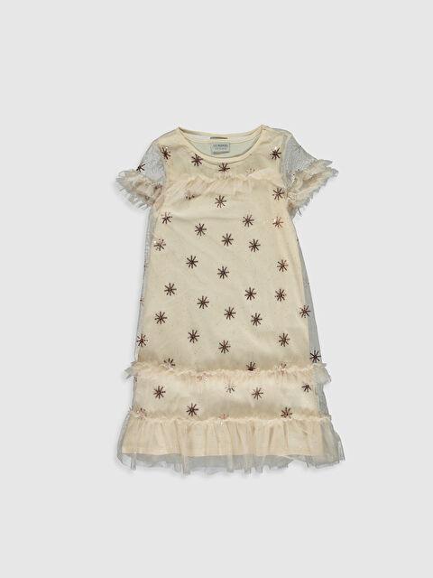 Kız Çocuk Pul İşlemeli Tüllü Elbise - LC WAIKIKI