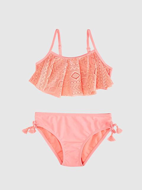 Kız Çocuk Dantel Detaylı Volanlı Bikini - LC WAIKIKI