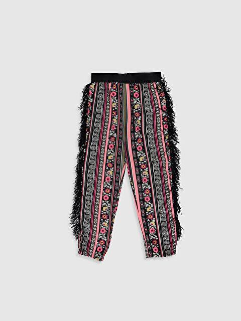 Kız Çocuk Püskül Detaylı Viskon Pantolon - LC WAIKIKI