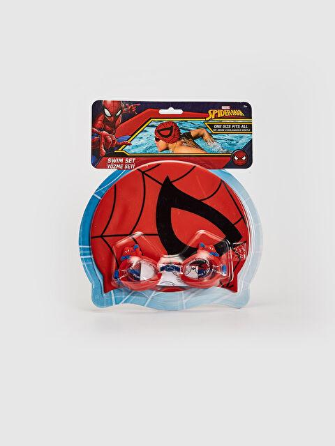 Erkek Çocuk Spiderman Lisanlı Deniz Gözlüğü ve Bone - LC WAIKIKI