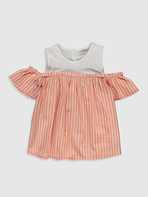 Kız Çocuk Omuzu Açık Poplin Bluz - LC WAIKIKI