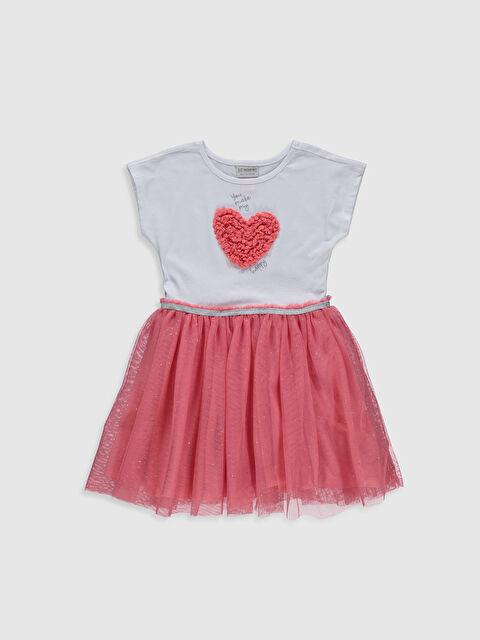 Kız Çocuk Pamuklu Tüllü Elbise - LC WAIKIKI