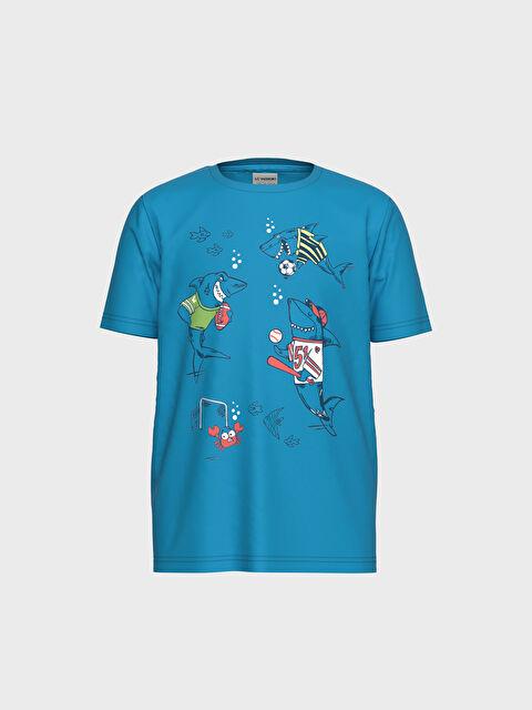 Erkek Çocuk Güneşte Renk Değiştiren Pamuklu Tişört - LC WAIKIKI