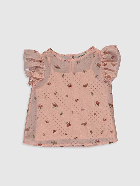 Kız Çocuk Çiçekli Şifon Bluz - LC WAIKIKI