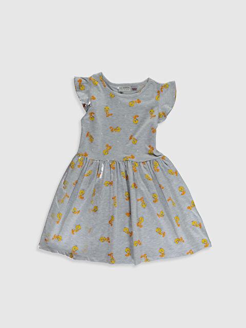 Kız Çocuk Tweety Baskılı Elbise - LC WAIKIKI