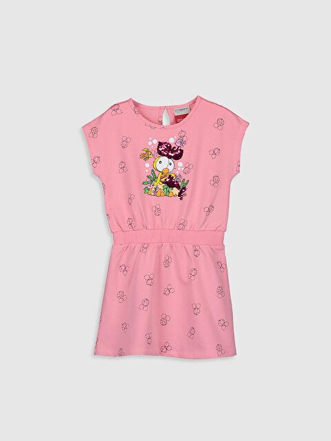 Kız Çocuk Limon Baskılı Pamuklu Elbise - LC WAIKIKI