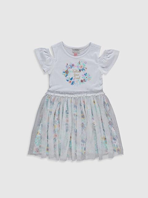 Kız Çocuk Omuzu Açık Çiçekli Elbise - LC WAIKIKI