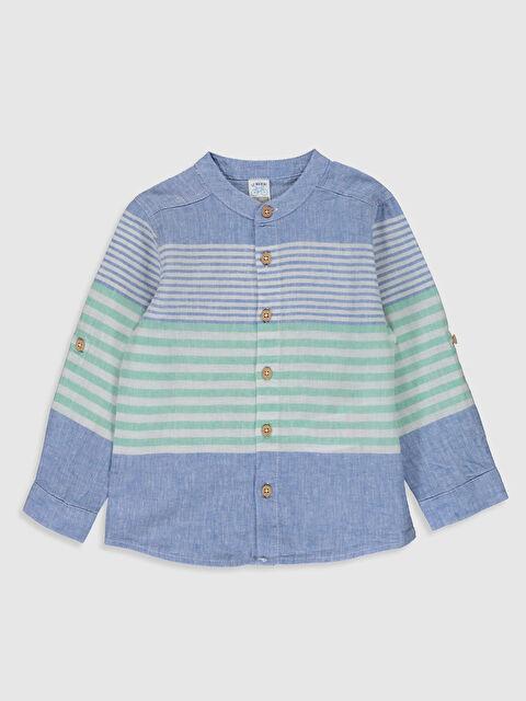 Erkek Bebek Çizgili Keten Gömlek - LC WAIKIKI