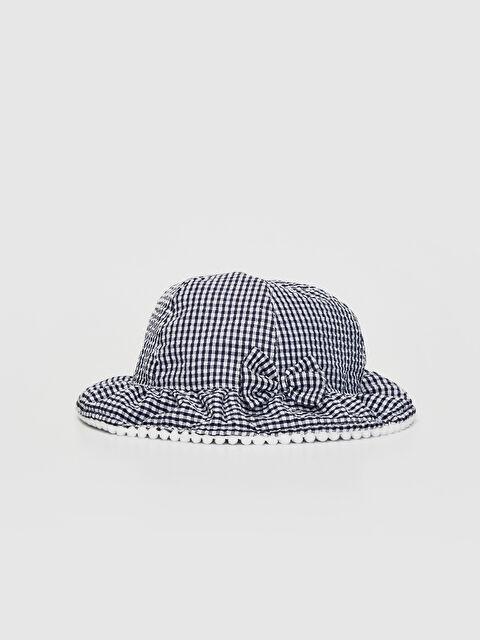 Kız Bebek Ekoseli Şapka - LC WAIKIKI