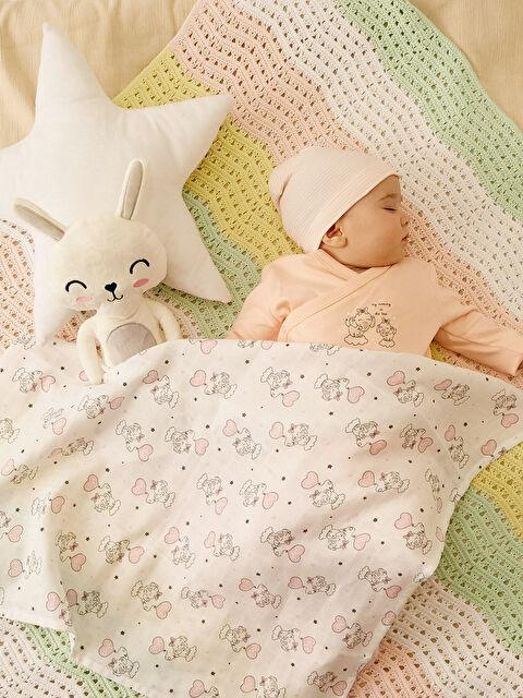 Kız Bebek Desenli Müslin Battaniye 2'li - LC WAIKIKI