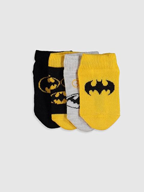 Erkek Bebek Batman Baskılı Patik Çorap 4'lü - LC WAIKIKI