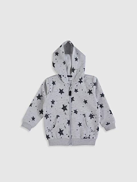 Erkek Bebek Baskılı Fermuarlı Sweatshirt - LC WAIKIKI