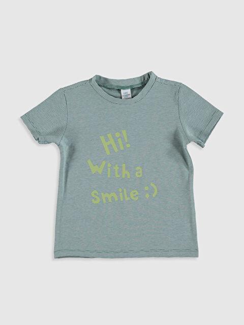 Erkek Bebek Slogan Yazı Baskılı Tişört - LC WAIKIKI