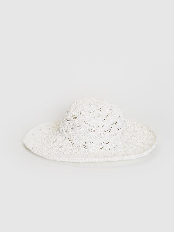 Örgü Detaylı Kadın Hasır Fötr Şapka - LC WAIKIKI