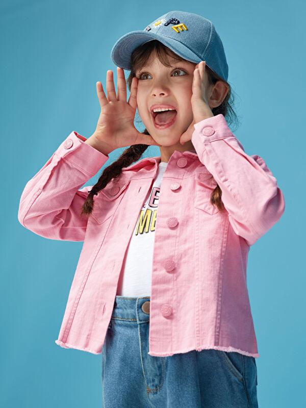 Gömlek Yaka Cep Detaylı Kız Çocuk Ceket - LC WAIKIKI