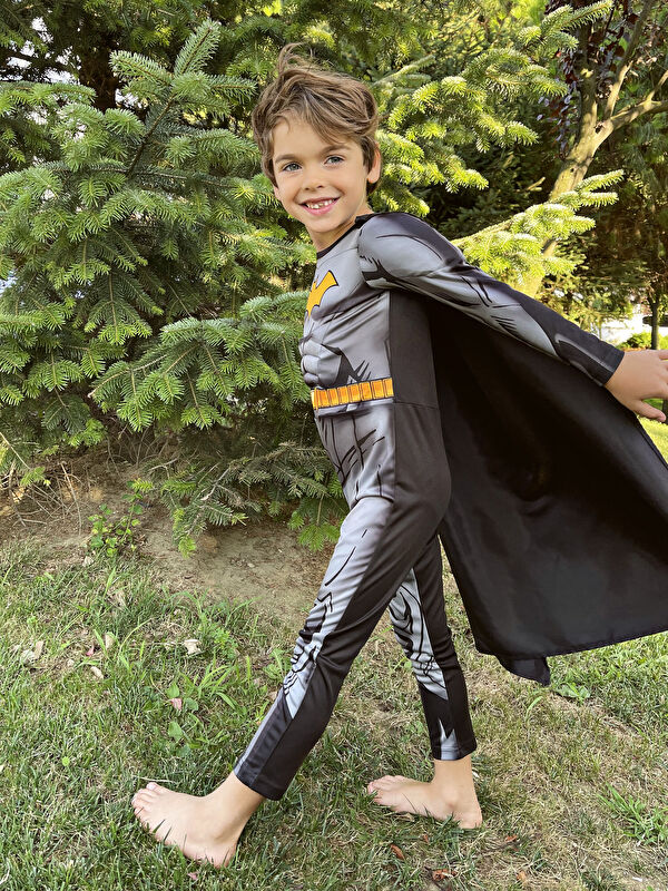 Bisiklet Yaka Uzun Kollu Erkek Çocuk Batman Kostüm - LC WAIKIKI