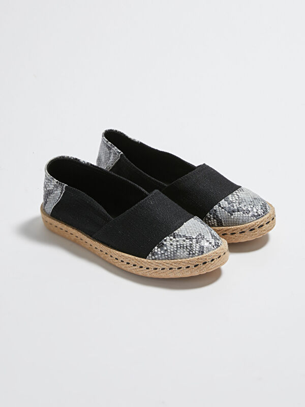 Deri Görünümlü Espadril Ayakkabı - LC WAIKIKI