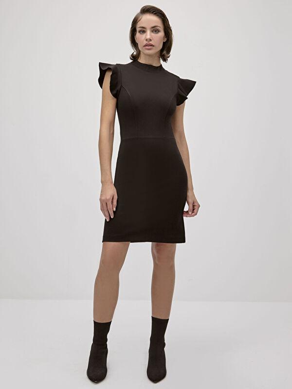 İncelten Etkili Fırfır Detaylı Elbise - LC WAIKIKI
