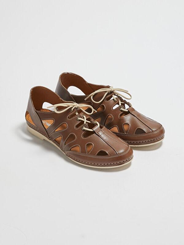 Deri Görünümlü Kadın Klasik Ayakkabı - LC WAIKIKI