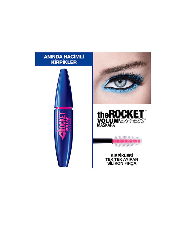 Maybelline New York Volum' Express Rocket Ekstra Siyah Maskara - Markalar