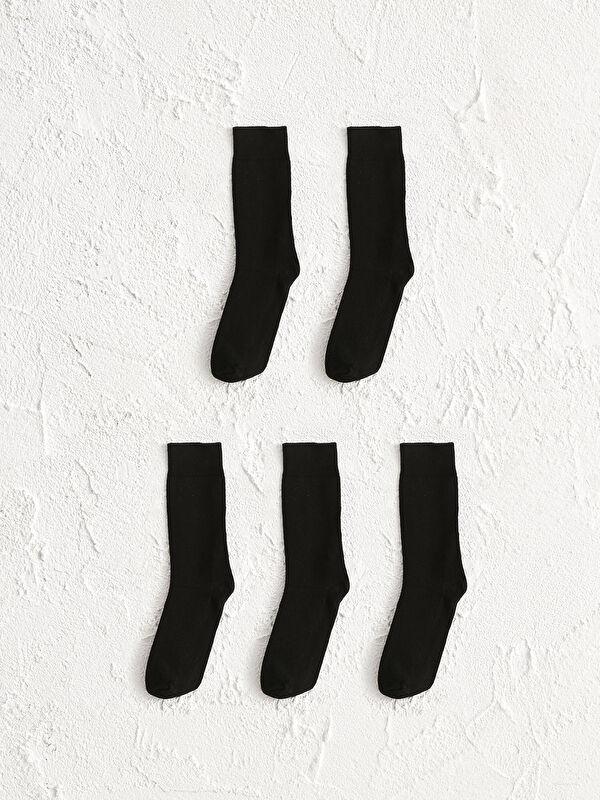 LCW GREEN Organik Pamuklu Soket Çorap 5'li - LC WAIKIKI