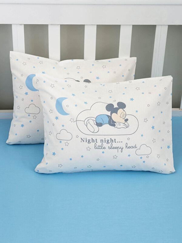 Mickey Mouse Lisanslı Erkek Bebek Dokuma Yastık Kılıfı - LCW HOME