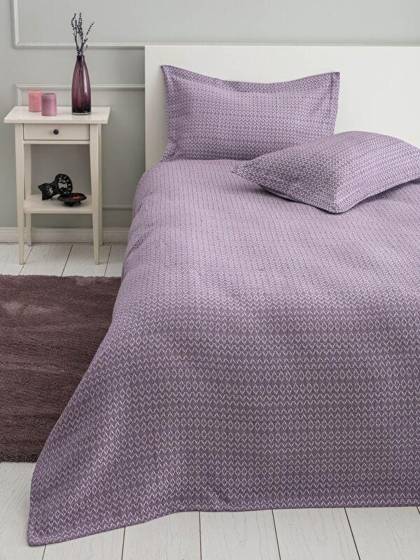 Çift Kişilik Desenli Yatak Örtüsü ve Yastık Kılıfı - LCW HOME
